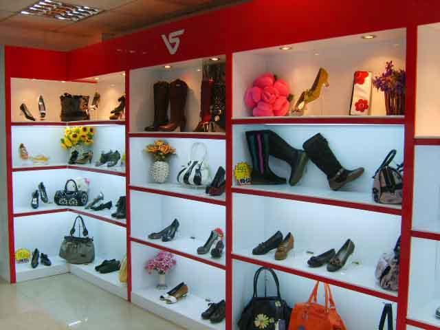 鞋子 展示 柜 鞋柜 烤漆柜 柜台 钛合金 展示 柜 玻璃柜 高清图片