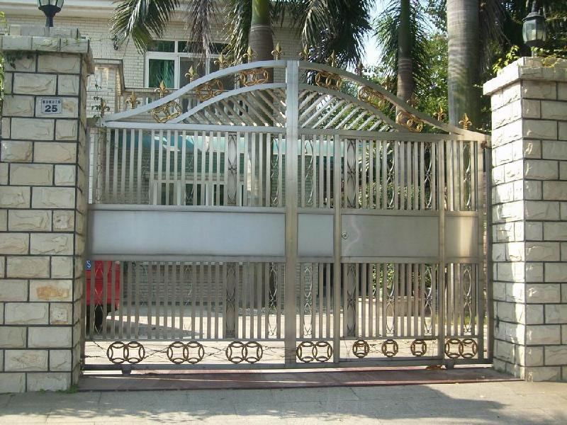 【不锈钢大门效果图】报价_参数_图片_评测_-入户大门围栏效果图高