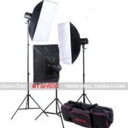 200W闪光灯摄影灯3柔光灯套装图片