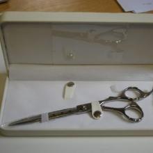 供应高档精装剪刀盒/塑胶剪刀包装盒/理发剪刀木盒/理发师的最爱剪