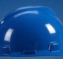 V-Gard标准型安全帽PE,蓝色 MSA抗冲击及抗刺穿安全帽 批发