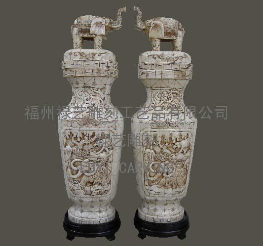 供应骨雕花瓶