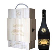 供应双支木盒装人头马干红葡萄酒图片