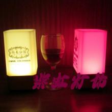 供应新款迷你方型LED充电酒吧装饰台灯 紫虹灯饰