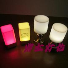 供应新款迷你方灯LED充电酒吧烛台灯 紫虹灯饰 酒吧KTV酒店台灯