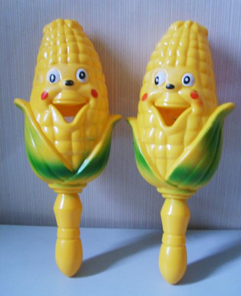 供应超可爱笑脸玉米摇铃