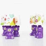 可爱小熊时尚小台灯夜灯紫色图片