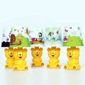 可爱小熊时尚小台灯夜灯黄色图片