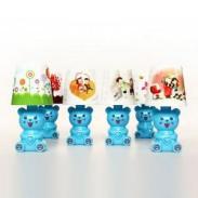 可爱小熊时尚小台灯夜灯蓝色图片