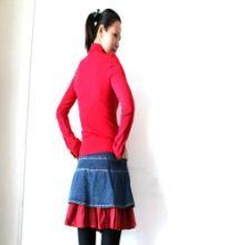 供应韩版瑞丽时尚女装翻领长袖T恤批发外贸女式翻领上衣批发