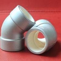 供应铝合金PB管件45°弯头铝合金PB管件45弯头