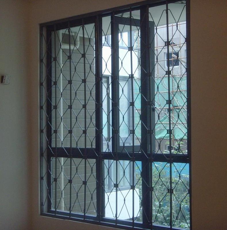 供应锰钢-内置折叠防盗窗