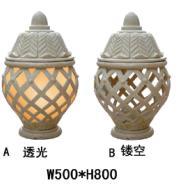 广州玻璃钢仿青铜灯罩图片