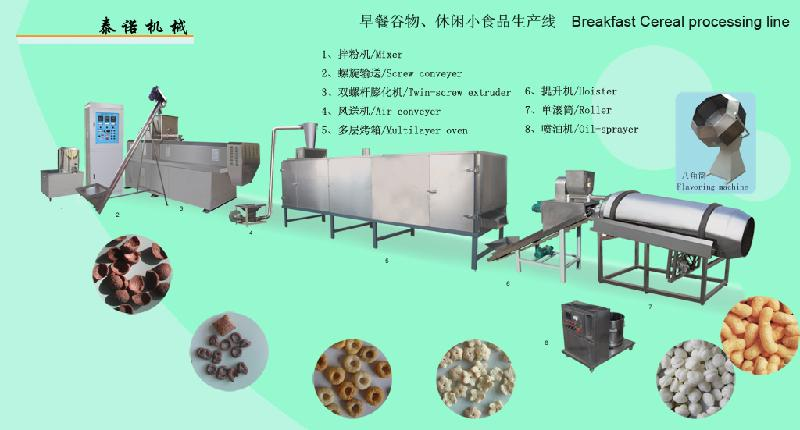 玉米片生产设备、玉米圈加工机械、膨化休闲小食品生产中心