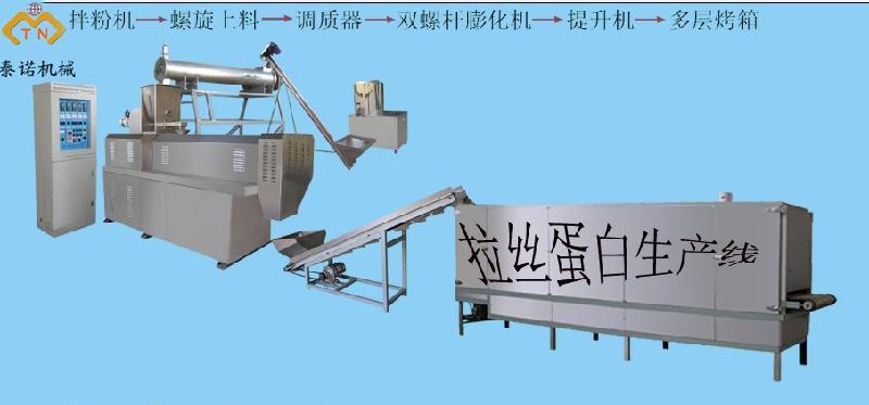 供应简单高效拉丝蛋白生产线、食品机械设备厂家