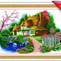 供应福州精准100印花十字绣加盟代理Q344504694