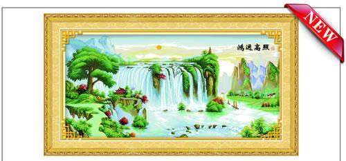 供应100精准印花十字绣厂家直销15825759222