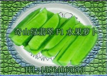 奇山绿翡翠杂交水果青萝卜种子图片