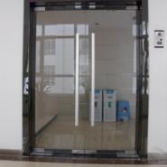 西安玻璃无框玻璃地弹门图片