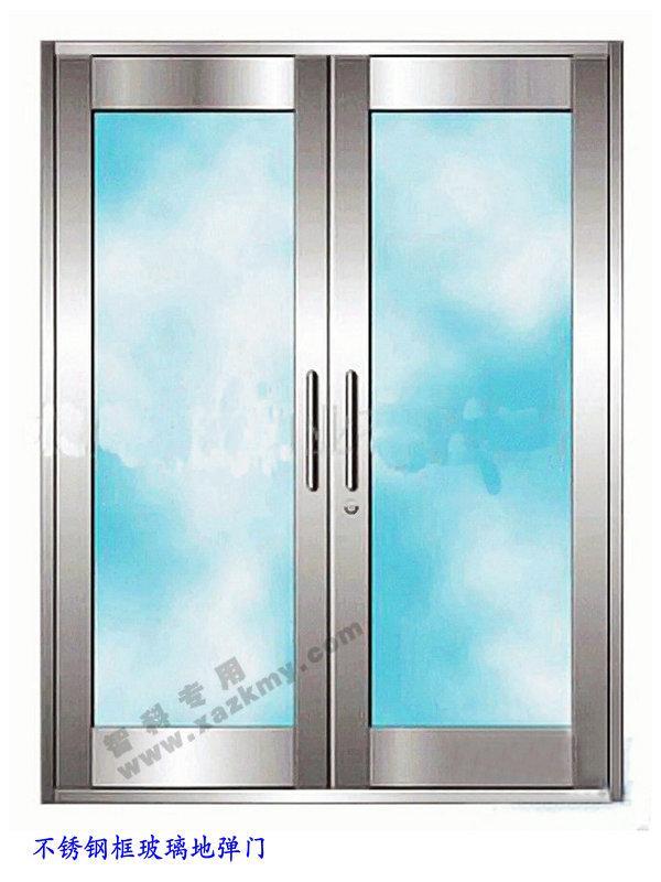 供应西安不锈钢外框玻璃地弹门