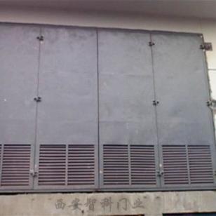西安彩钢夹芯变压器室门图片