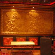 福建GRC仿铜复古背景墙图片