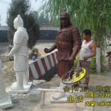 供应呼和浩特玻璃钢蒙古马骑士雕塑图片