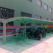 上海阳光板车棚图片