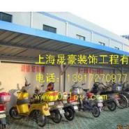 嘉定彩钢自行车棚生产图片