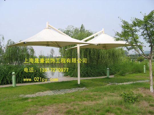 供应南通膜伞生产批发,专业膜结构产品生产,更具尺寸制作,车棚