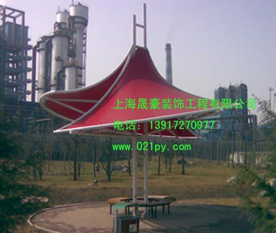 供应上海普陀区膜伞生产膜结构车棚,膜结构景观,膜伞,膜布,膜结构