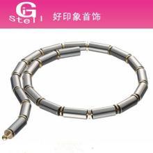 供应非主流项链 步步高升高档磨砂面不锈钢项饰 颈饰 项链