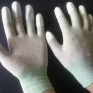 碳纤维PU涂指防静电无尘手套图片