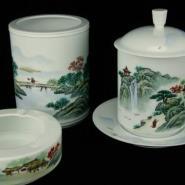 瓷器陶瓷办公文具文教用品四件套图片