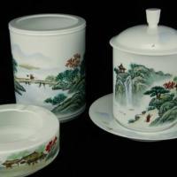 瓷器陶瓷办公文具文教用品四件套
