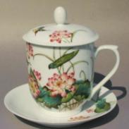 陶瓷茶杯水杯杯子定做陶瓷办公杯图片