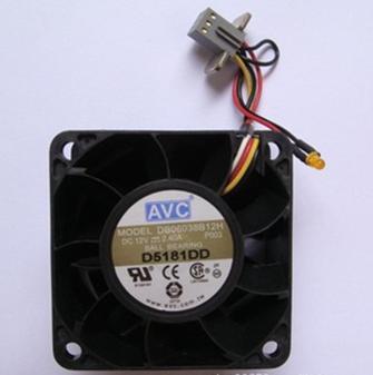 DB06038B12H 6038 散热风扇 12V 2.4A