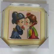 十字绣成品韩国婚礼结婚礼物图片