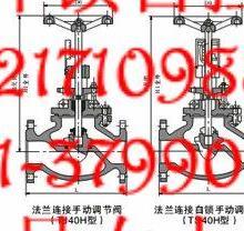 供应手动调节阀T40法兰手动调节阀价格T40-16C调节阀厂家图片