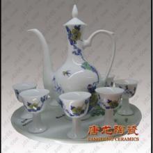 供应青花酒具手绘陶瓷传统工艺品高档礼品瓷批发