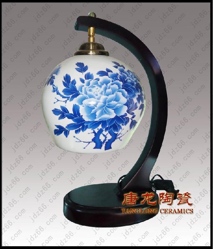 ...陶瓷台灯样板图 手绘青花陶瓷灯中式陶瓷台灯 景德镇市唐龙陶...