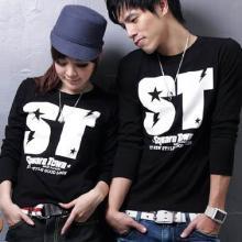 低价男女长袖T恤批发低价韩版长袖T恤卫衣长袖热批厂家直销特价T恤
