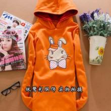 供应长袖卫衣批发可爱兔子卡通卫衣批发厂家直销韩版长款卫衣批发