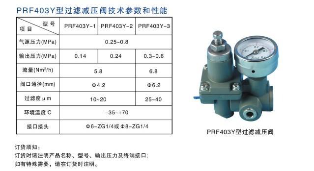 供应prf403y-1空气过滤减压阀图片