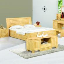 供应 高箱实木床 双人高箱新西兰松木床松木床实木床