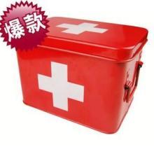 供应外贸出口小号金属红色药箱