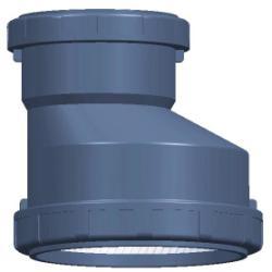 供应 PP(聚丙烯)静音排水管件異徑管