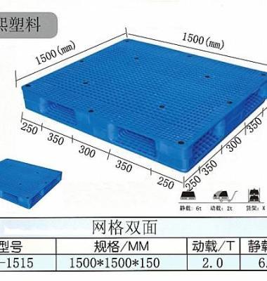 网格双面塑料托盘1515图片/网格双面塑料托盘1515样板图 (1)