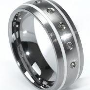 钨钢戒指钨金婚戒指环钨饰品图片