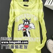 夏季休闲运动装T恤批发韩版长款背图片